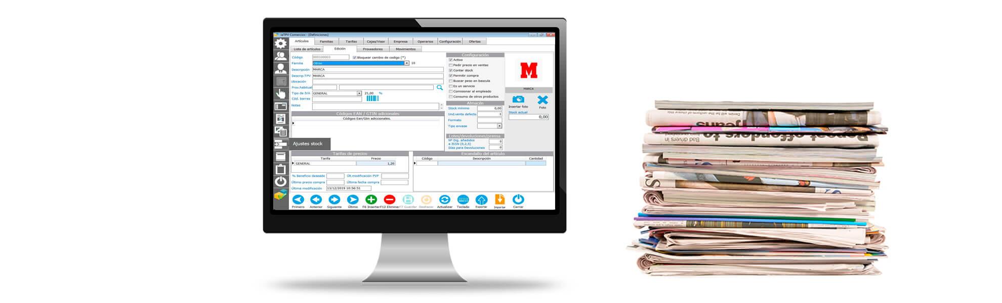 TPV software para quioscos y prensa